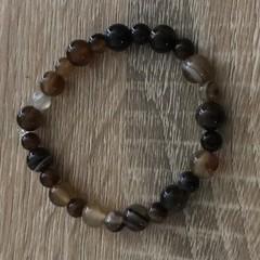 Shades of brown elastic bracelet