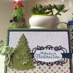 Christmas Handmade Card  - thinking of you at Christmas time