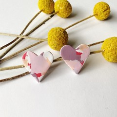 Valentines  multicoloured  hearts