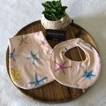 'Starfish' Newborn bib & Burp cloth