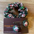 Christmas Scrunchy and hair pins gift set