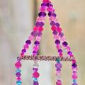 Pretty Spiral Suncatcher in Pinks