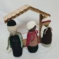 Hand-crocheted Nativity Set