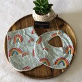 'Spotty Rainbow' Newborn bib & Burp cloth