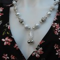 Enchanted Beaded Necklace White