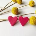 Valentines pink glitter hearts