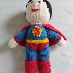 HAND KNIT SUPERMAN DOLL