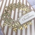 Set of 5 Handmade Christmas Cards - Gold Wreaths