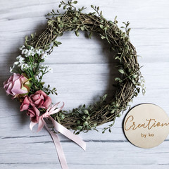 Pink vine wreath
