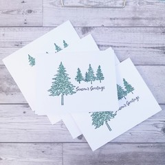 Set of 5 Handmade Christmas Cards - Sweet and Simple Trees