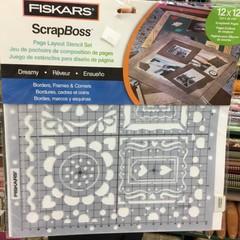 Fiskars ScrapBoss page layout stencil set