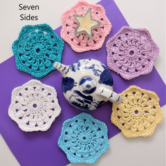 Sparkly Crochet Coaster Sets