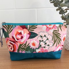 Pouch- Bloom and Teal