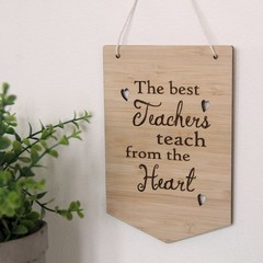 Teacher Wall Art, Teacher Thank You Gift, 3 Designs, Bamboo