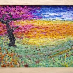 Cherry Blossom wax painting