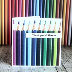 Teacher Thank You Card, Personalised Teacher Thank You Card, Custom Made