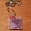 """FREE POSTAGE """"Unicorn Poop"""" Resin Pendant with Solid Brass Ball Chain Necklace"""