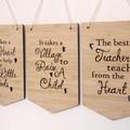 Teacher Wall Art, Teacher Thank You Gift, 3 Designs, Bamboo