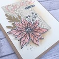 Set of 5 Handmade Christmas Cards - Peace On Earth Pink