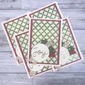 Set of 5 Handmade Christmas Cards - Joy
