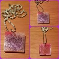 "FREE POSTAGE ""Unicorn Poop"" Resin Pendant with Solid Brass Ball Chain Necklace"
