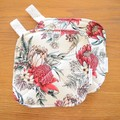 Matching Set of 2 Potholders - Red Protea