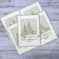 Set of 5 Handmade Christmas Cards - Peace On Earth