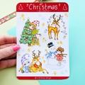Christmas sticker sheet, festive stickers, planner stickers, scrapbook