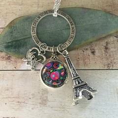 Love Dream Hope Trust Eiffel Tower Necklace