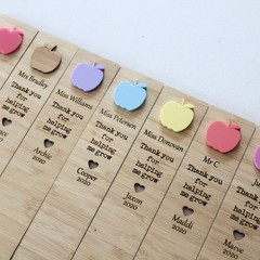 Teacher Bookmark Custom Personalised, Apple, 7 Colours, Teacher Thank You Gift