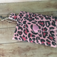 Pink leopard print jewellery or coin purse