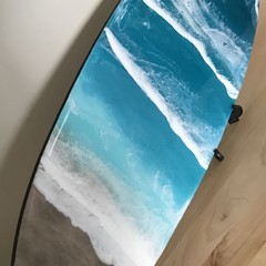 Resin Surfboard Art/Resin Wall Art/Resin Board/Resin Art/Epoxy Art/Coastal Decor