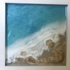 Resin Art/Resin Beach Art/Wall Art/Ocean Wall Art/Coastal Decor/Seaside Decor