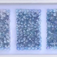 Resin Art/Glass art/Beach wall art/framed art/seashells/coastal decor/pastel art