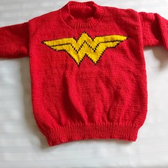 HAND KNIT WONDER WOMAN SWEATER