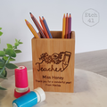 Personalised Pen Holder- Gift Box - Perfect Teacher Gift