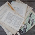 vintage paper pages from novel to A4 size for art and craft