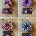 Free Postage! Scrunchy and hair pins gift set