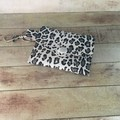 White animal print jewellery or coin purse