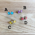 Free Postage! Washi paper resin earrings