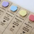 Teacher Bookmark Custom Personalised, Apple, 7 Colours, Teacher Thank You Gift