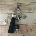 Black tassle key charm