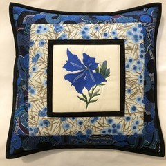 Australiana cushion cover -'Blue Leschenaultia""