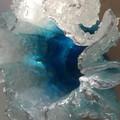 Resin Vase/Ocean Art/Resin Ocean Wave/Sculpture/Glass Vase/Ocean Bowl