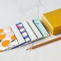 Button Envelopes {6} Summer Prints   Blue Green Yellow   Luxe Money Envelopes