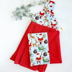Hanging Tea Towel + Pot Holder Sets | CHRISTMAS