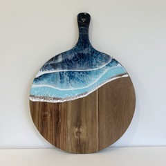 Round Paddle Acacia Resin Cheeseboard