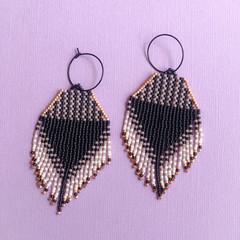 Handmade mini drop earrings