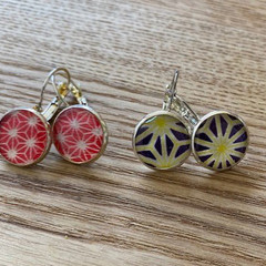 Free Postage! Japanese washi paper Resin Earrings