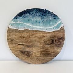 Resin Art Round Cheeseboard